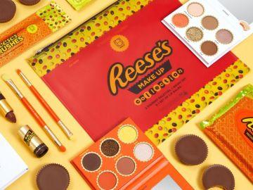 Colección de maquillaje de Hipdot x Reese's