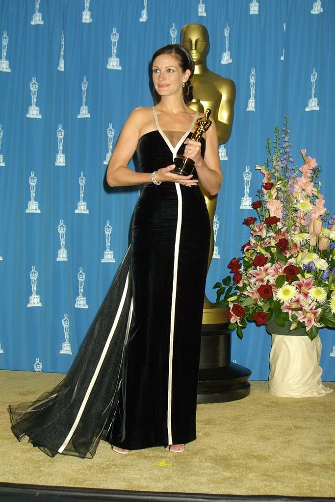 vestido julia roberts premios oscar 2001