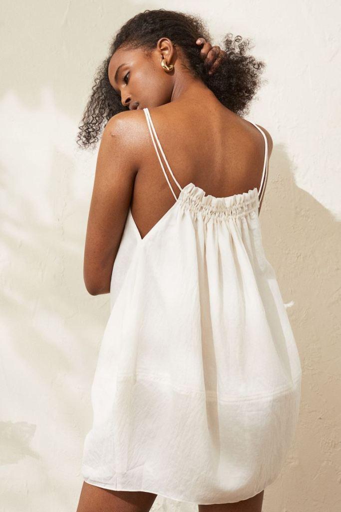 vestido blanco hm verano 2021