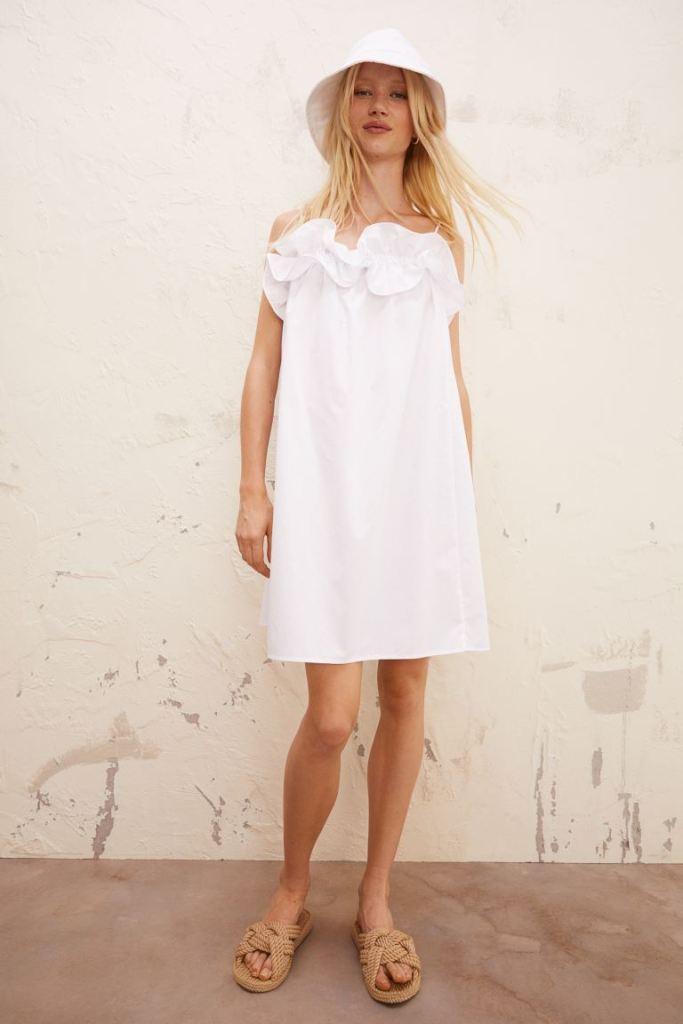 vestido blanco h&m verano 2021