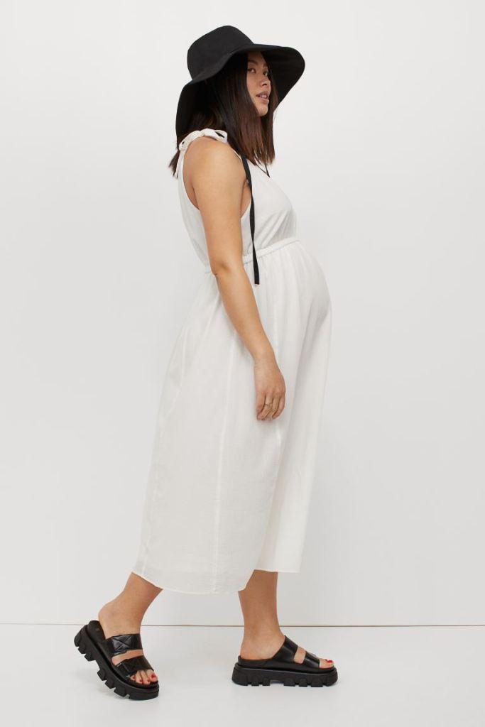 vestido blanco para embarazada verano 2021
